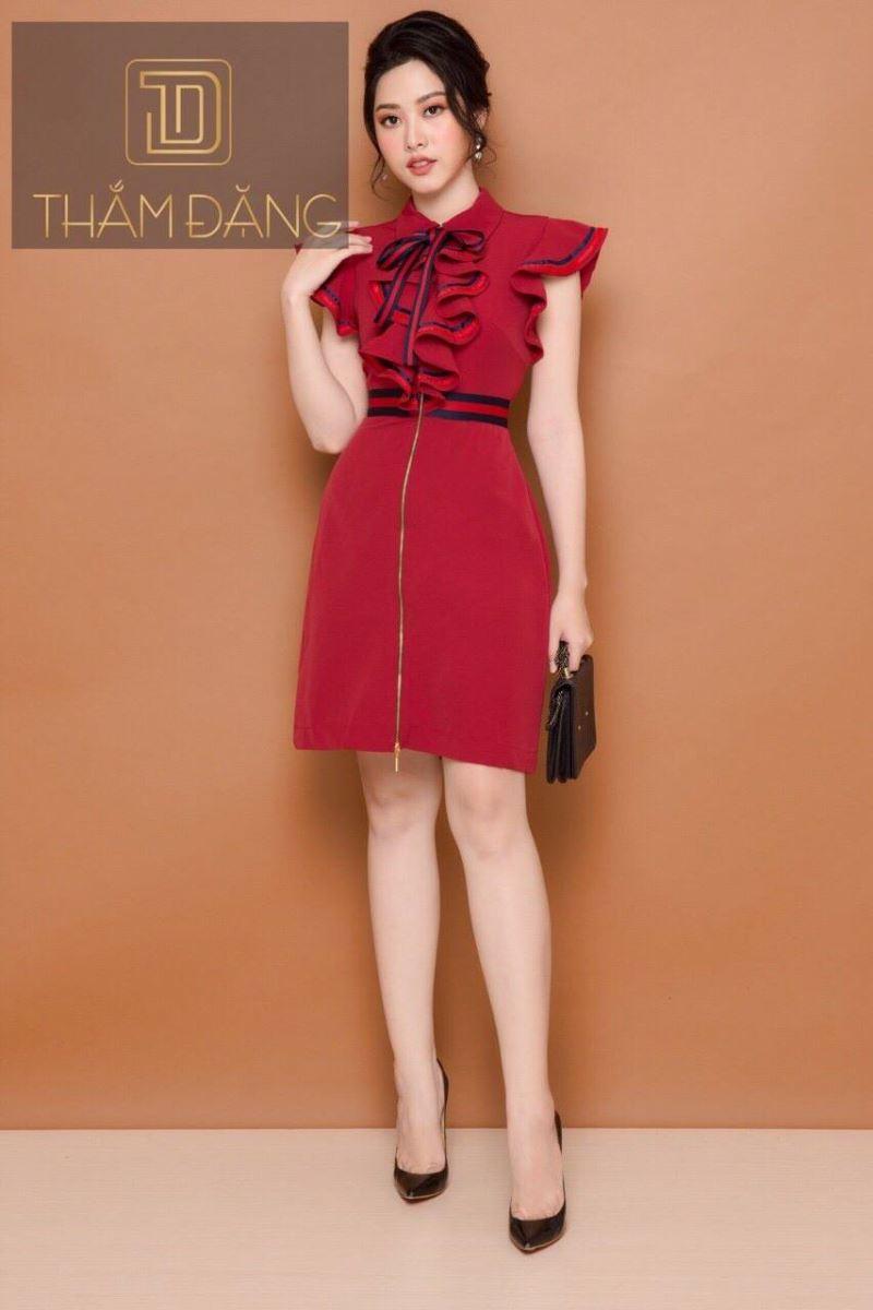 Đầm đỏ phối bèo