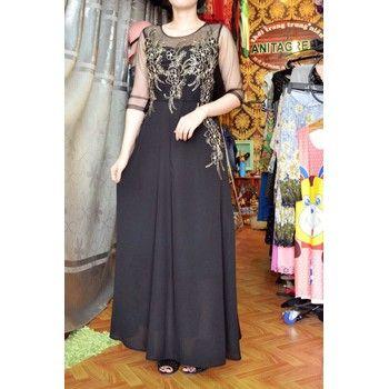 Mẫu đầm dạ hội với gam màu đen