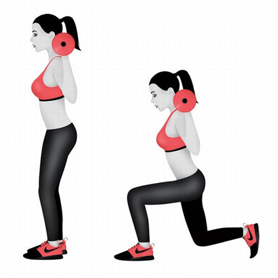 Sự kết hợp giữa cơ tay, ngực, chân và mông là ưu điểm của bài tập này