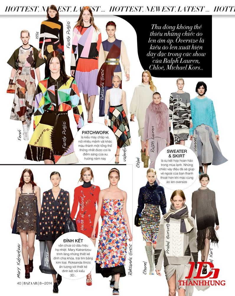 Xu hướng thời trang Thu Đông năm nay cực HOT 5