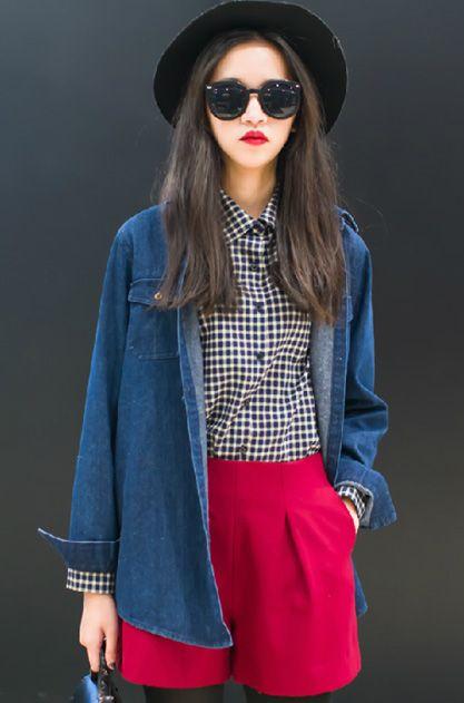 Mê mẩn áo kẻ sọc/ngang Nữ, Sơmi kẻ Hàn Quốc tuyệt đẹp 2