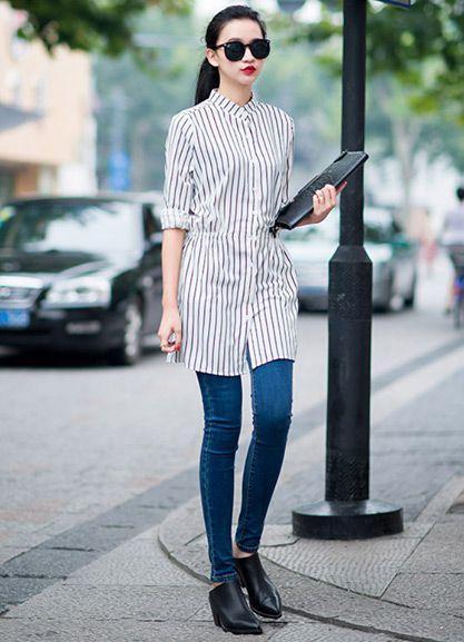 Mê mẩn áo kẻ sọc/ngang Nữ, Sơmi kẻ Hàn Quốc tuyệt đẹp 8