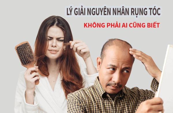 thay đổi nội tiết tố ở nam và nữ là nguyên nhân gây rụng tóc