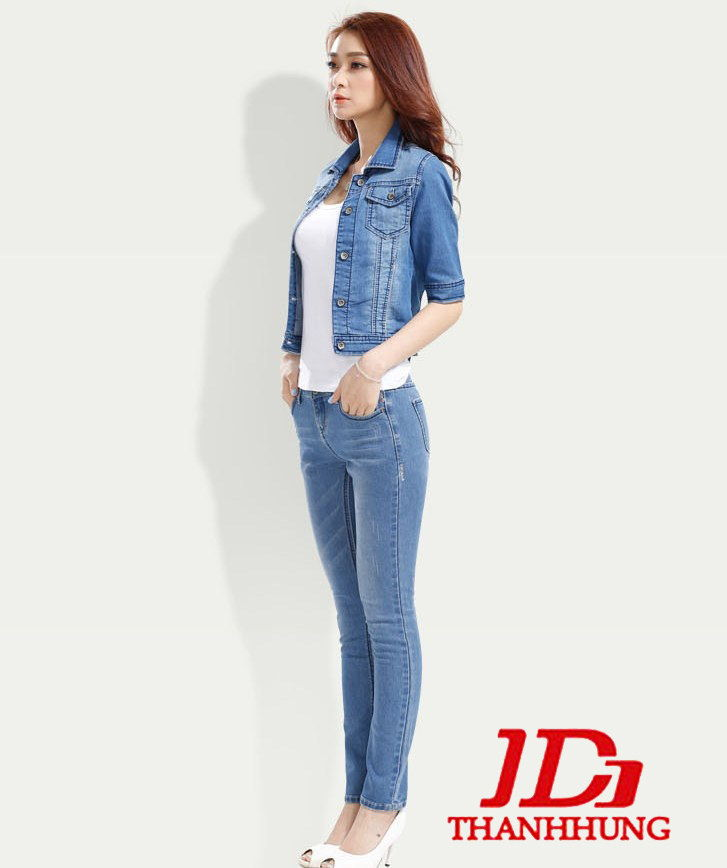 Áo khoác jeans/bò/denim nữ đẹp! Cách phối áo khoác jean 5
