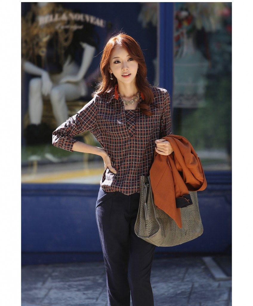 Mê mẩn áo kẻ sọc/ngang Nữ, Sơmi kẻ Hàn Quốc tuyệt đẹp 3