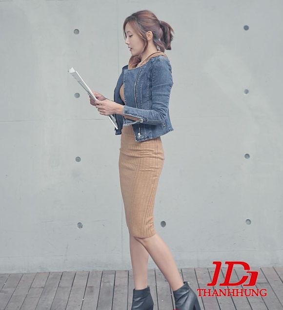 Áo khoác jeans/bò/denim nữ đẹp! Cách phối áo khoác jean 15