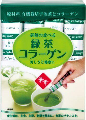 Collagen hanamai trà xanh tea