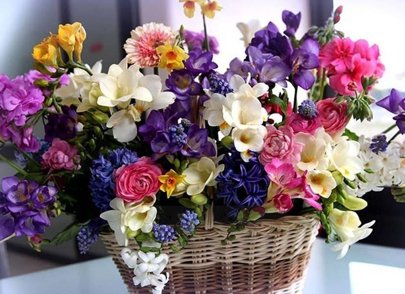 Giỏ Hoa cực đẹp tạ dịch vụ điện hoa uy tín Trà Flowers