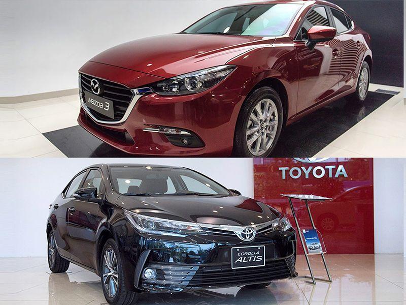 Không dễ để người dùng có thể lựa chọn Mazda 3 hay Toyota Altis