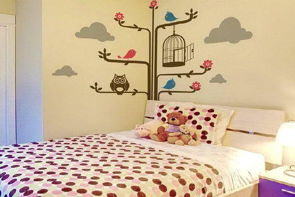 Những mẫu vẽ tranh tường phòng ngủ đẹp nhất hiện nay