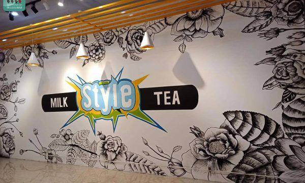 Những lý do nên vẽ tranh tường quán trà sữa